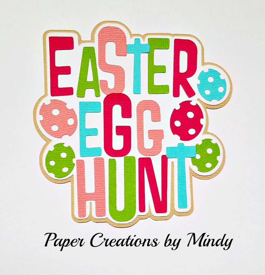 Easter Egg Hunt Colors Paper Piecing