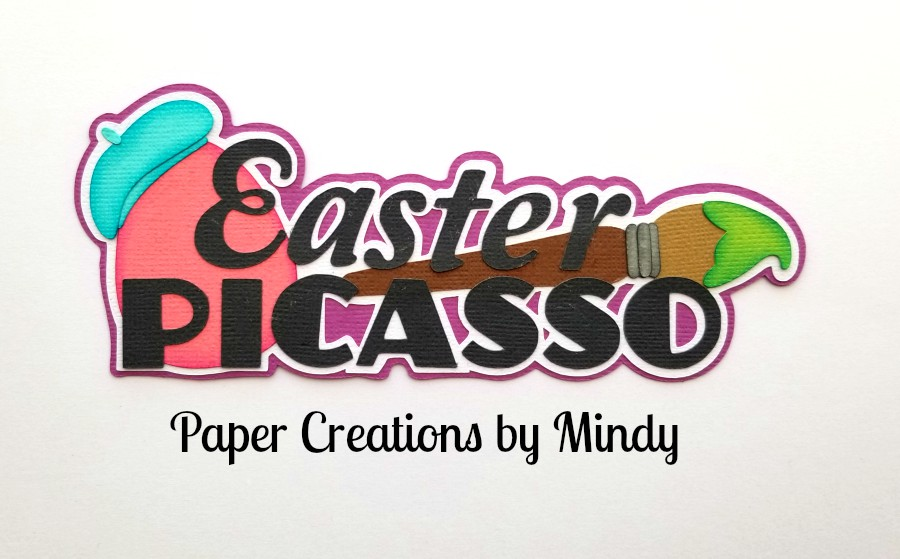 Easter Picasso Title Paper Piecing