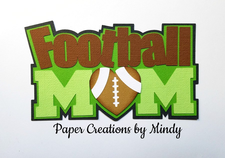 Football Mom tbd Paper Piecing