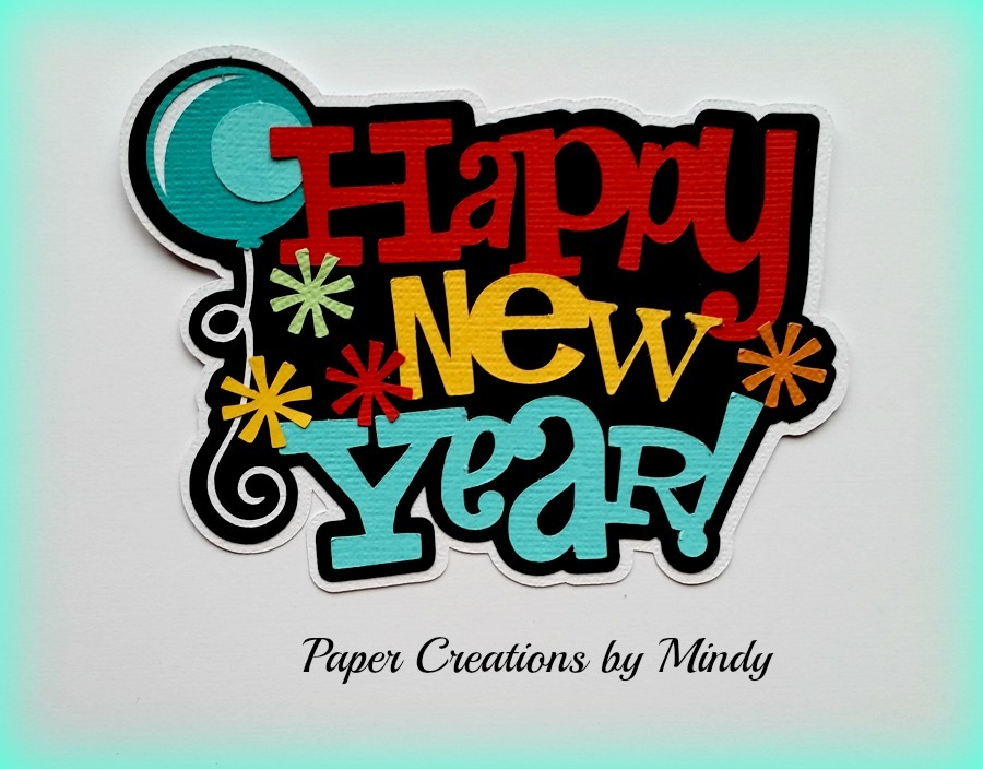 Happy New Year Title Paper Piecing