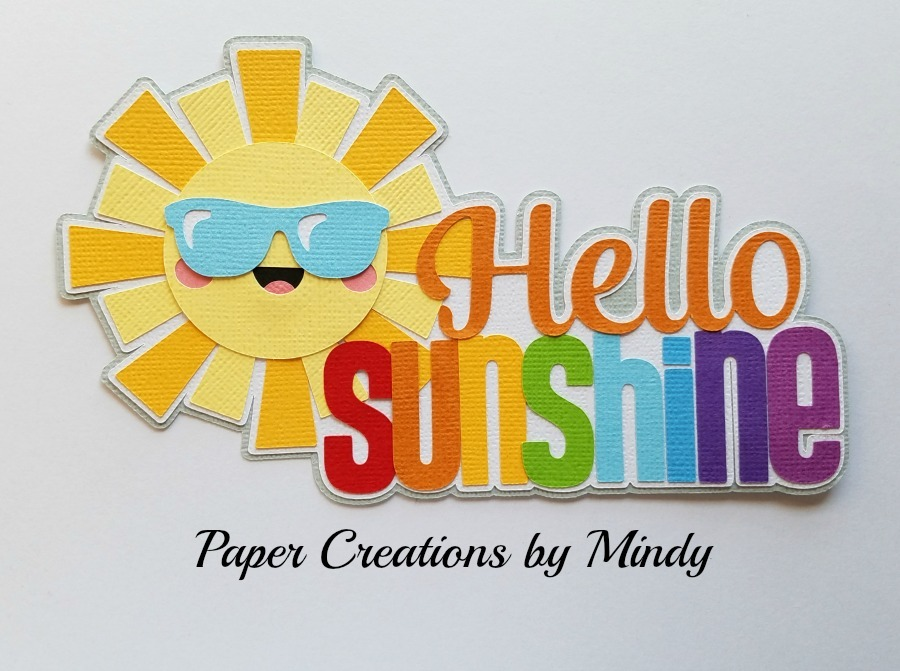 Hello Sunshine Title Paper Piecing