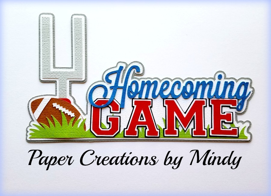 Homecoming Game Paper Piecing