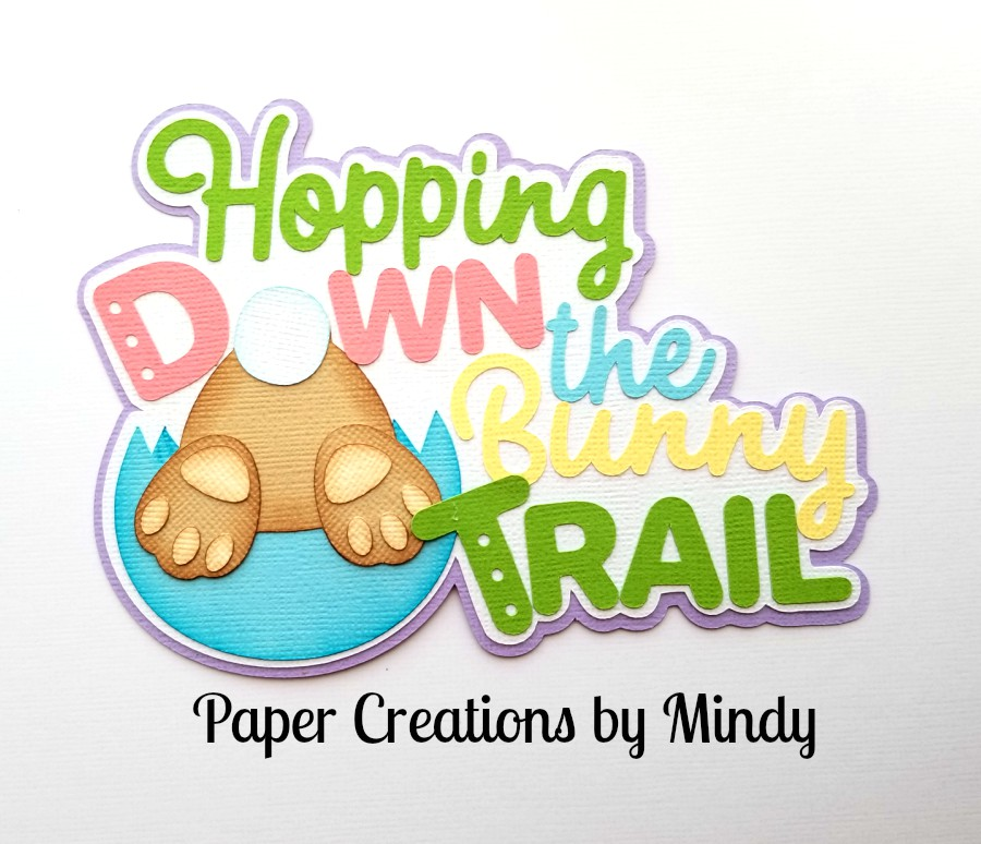 Hopping Down The Bunny Trail Title Paper Piecing