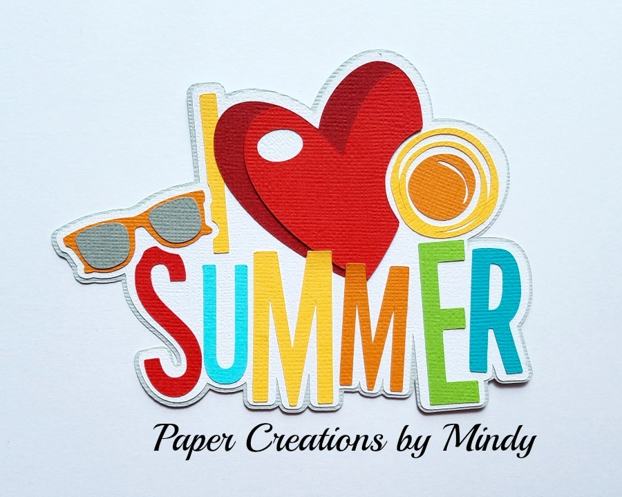 I Heart Summer Colors Paper Piecing