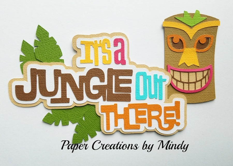 It's A Jungle Out There paper Piecing