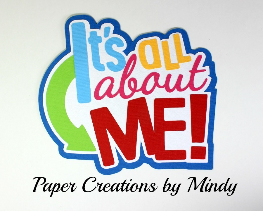 It's All About Me Paper Piecing