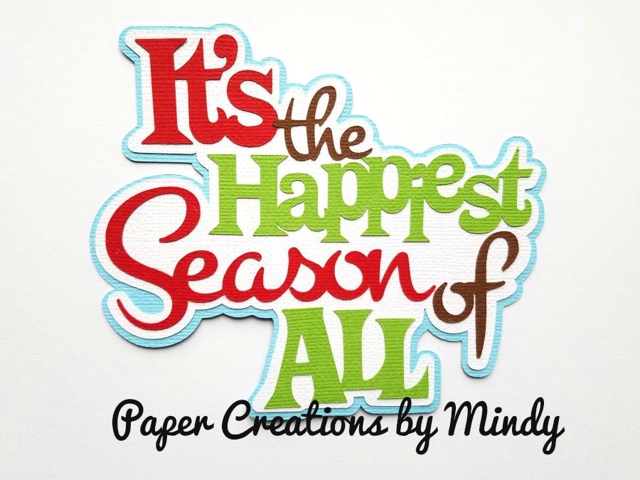It's The Happiest Season Paper Piecing