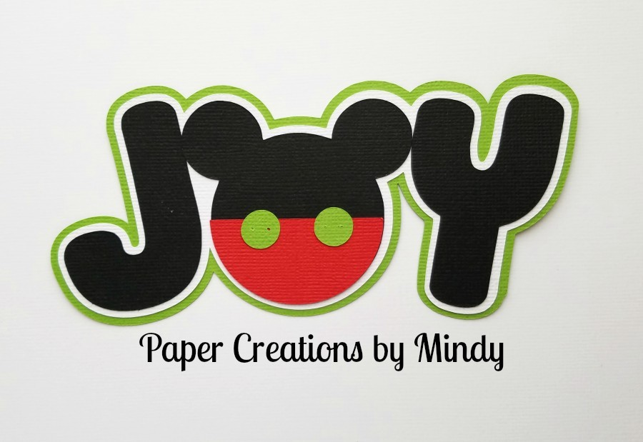Joy Mickey Title Paper Piecing