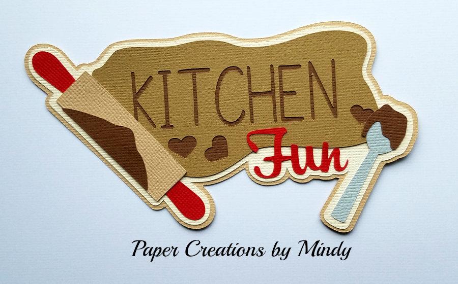 Kitchen Fun Title Paper Piecing