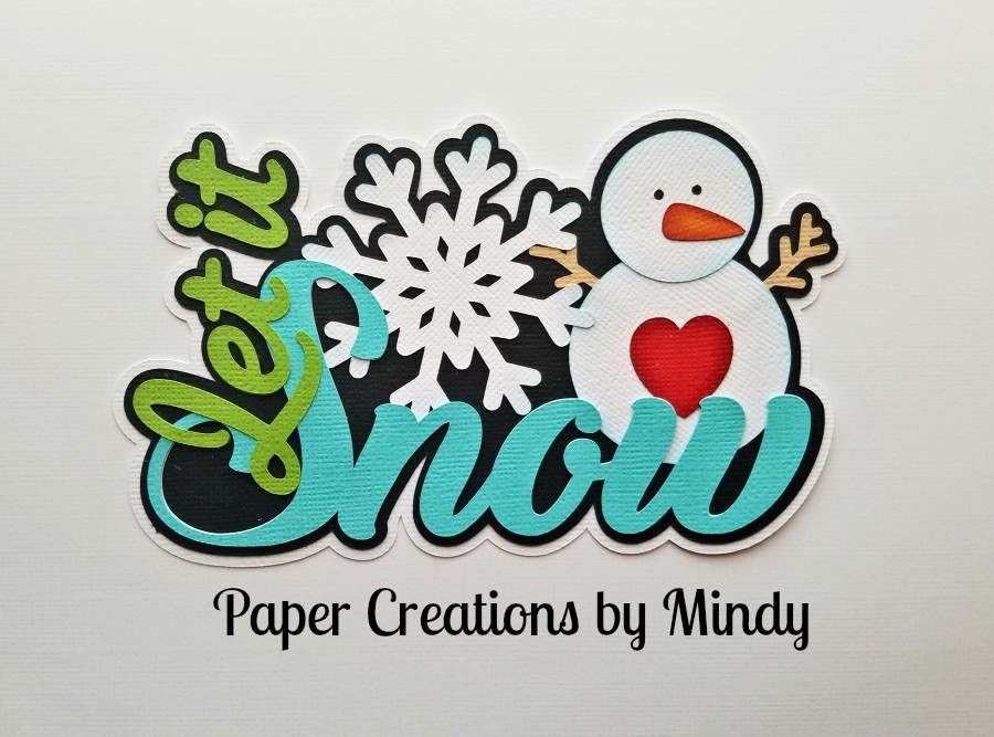 Let It Snow tbd Black Paper Piecing