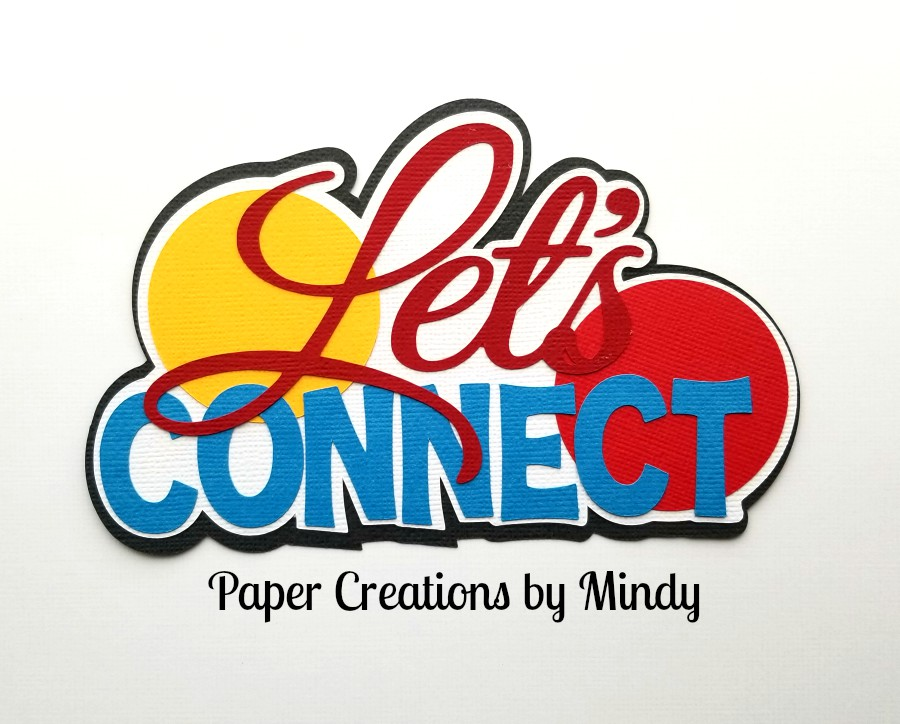 Lets Connect Board Game Title Paper Piecing