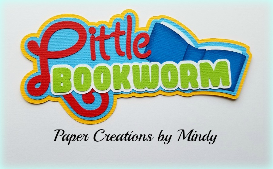 Little Bookworm Title Paper Piecing