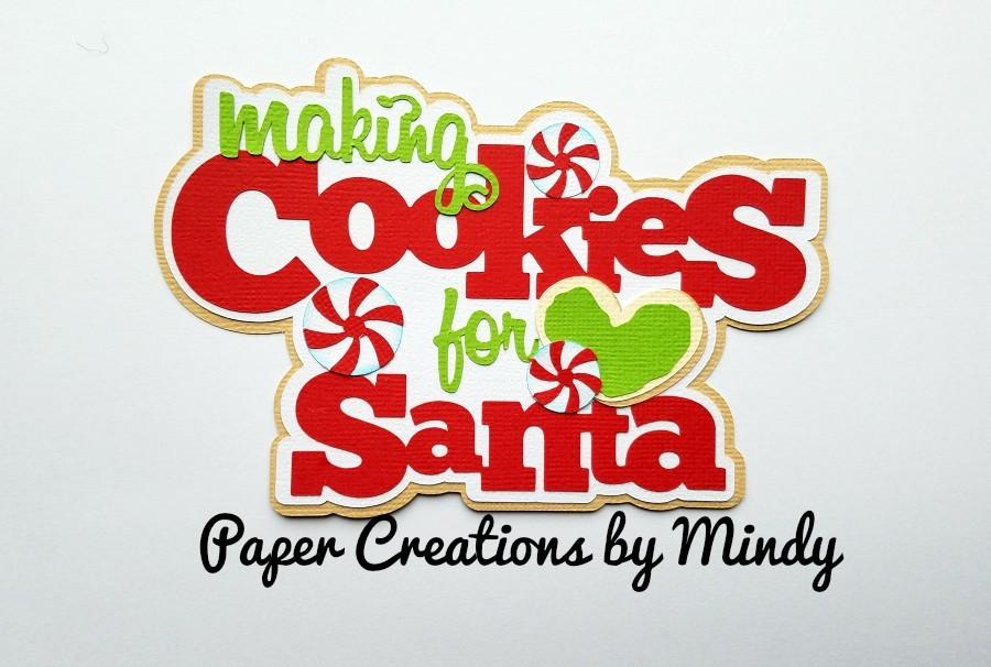 Making Cookies For Santa Paper Piecing