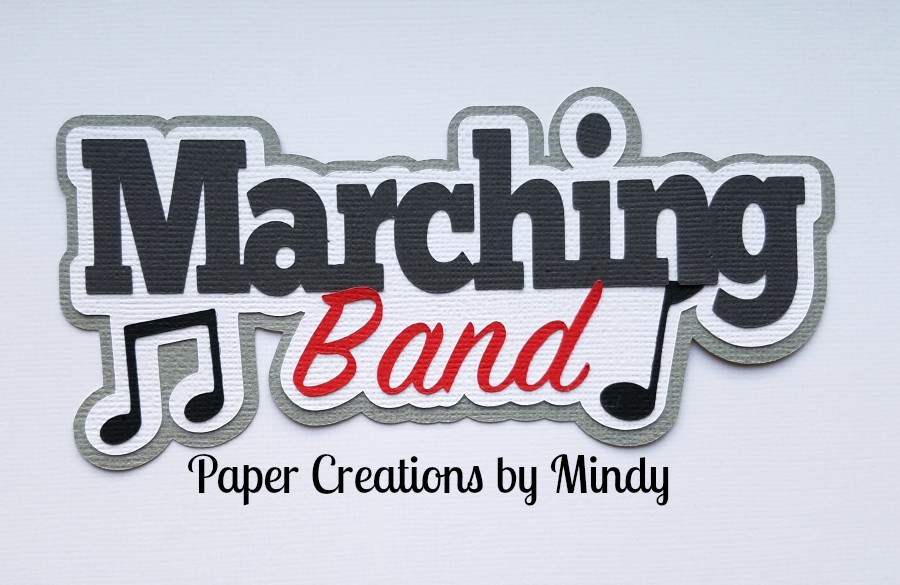 Marching Band Paper Piecing