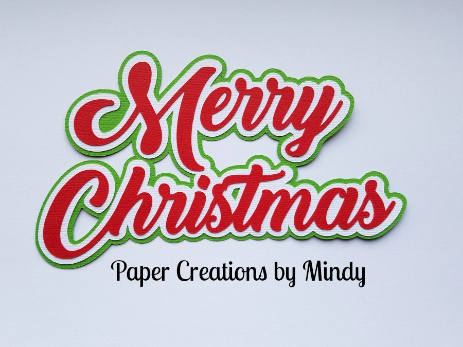 Merry Christmas ccd Paper Piecing