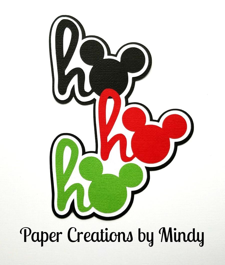 Mickey Ho Ho Ho Paper Piecing