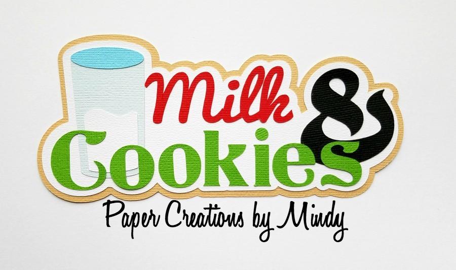 Milk and Cookies Title Paper Piecing
