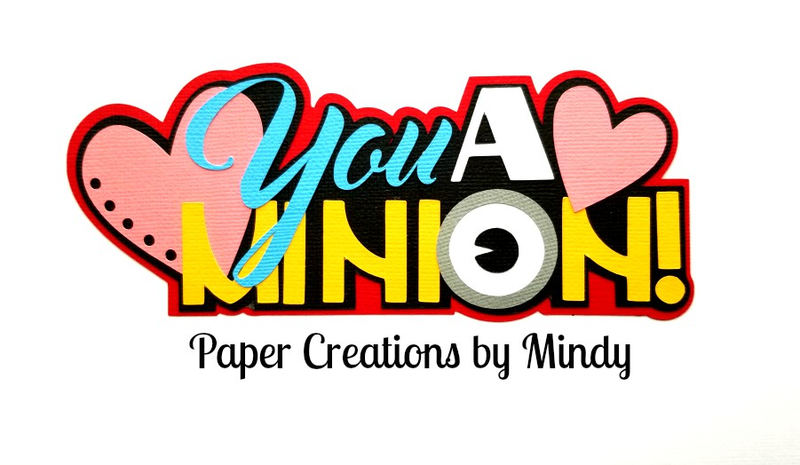 Minion title Paper Piecing