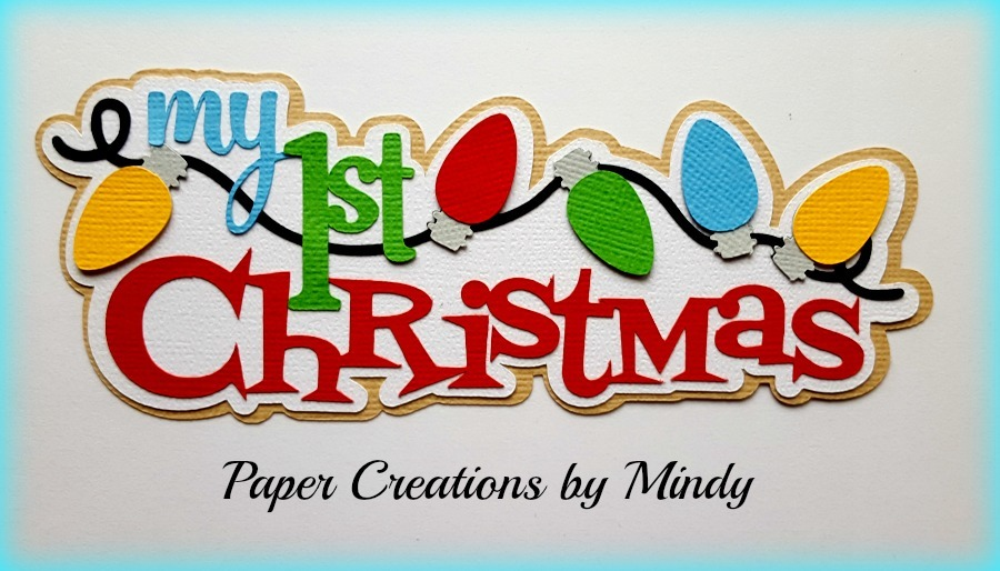 My First Christmas Title Paper Piecing