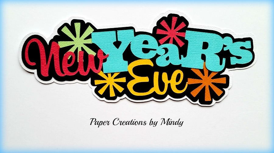 New Years Eve Title Paper Piecing