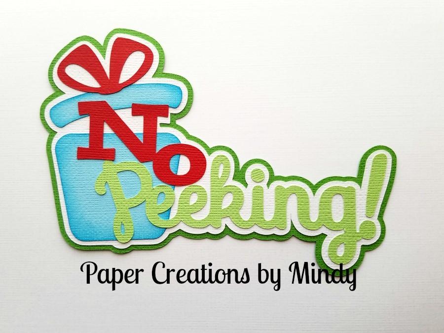 No Peeking Title Paper Piecing