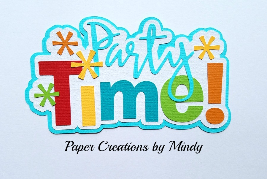 Party Time Title Paper Piecing