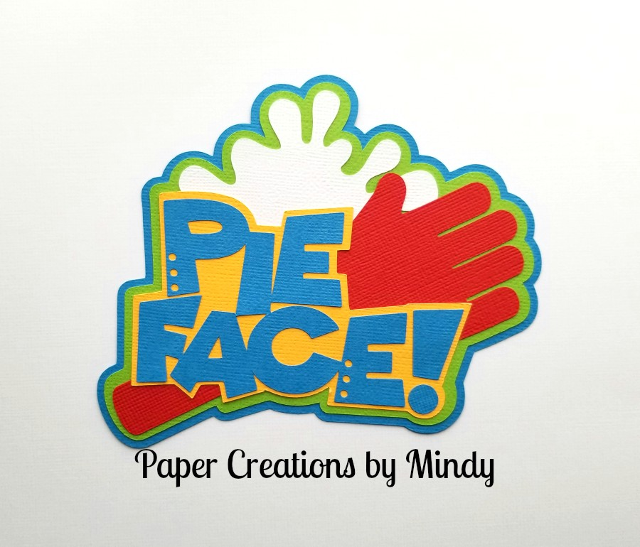 Pie Face Board Game Title Paper Piecing