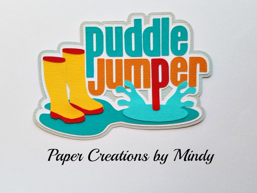 Puddle Jumper Title Paper Piecing