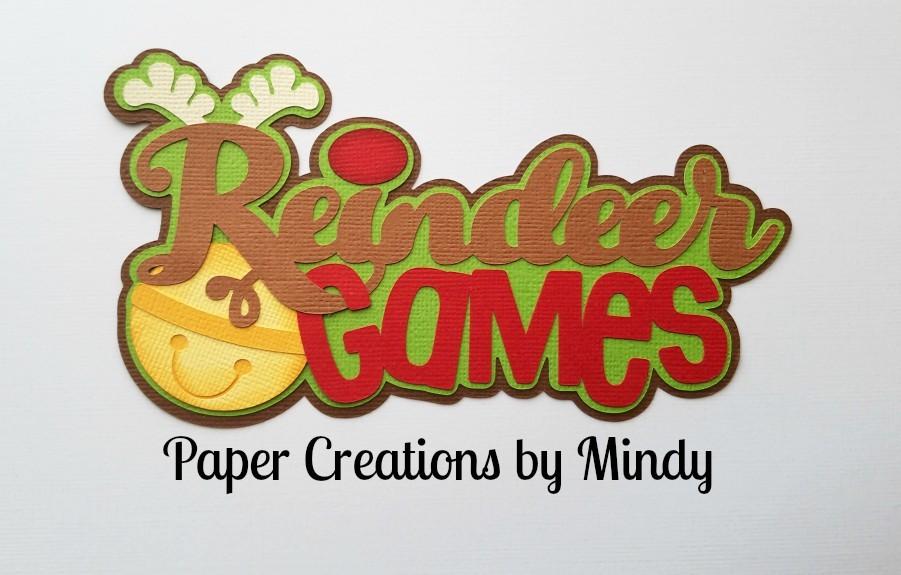 Reindeer Games tbt Title Paper Piecing
