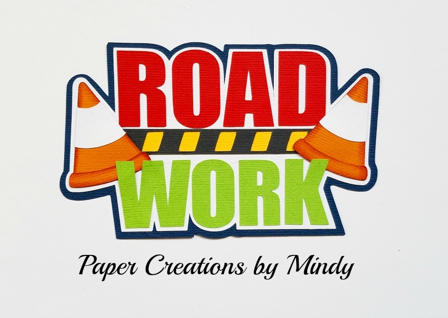 Road Work Title Paper Piecing