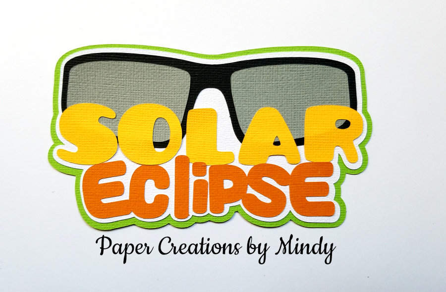 Solar Eclipse Title Paper Piecing