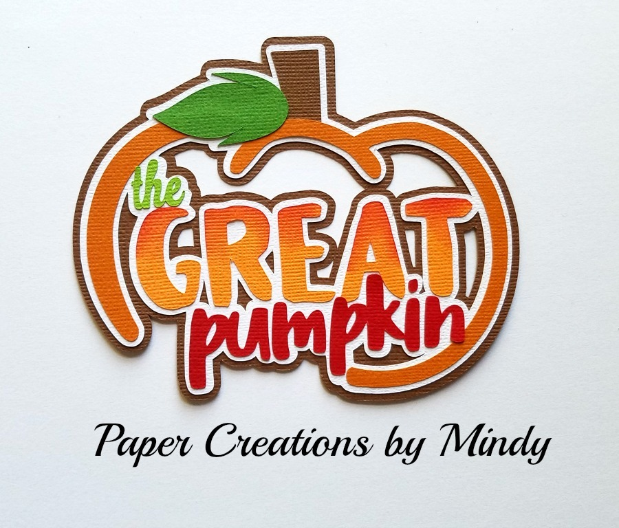 The Great Pumpkin Title Paper Piecing