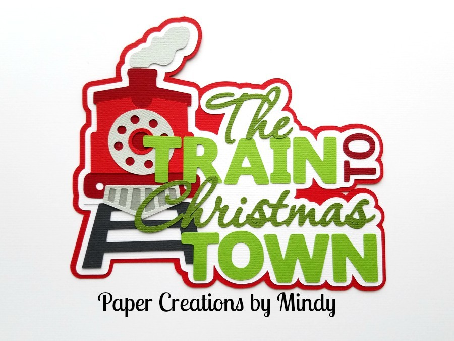Train To Christmas Town Train Paper Piecing