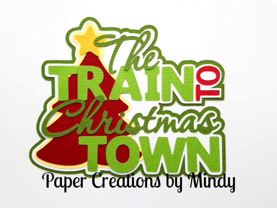Train To Christmas Town Tree Paper Piecing