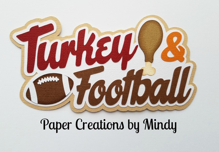 Turkey and Football Title Paper Piecing
