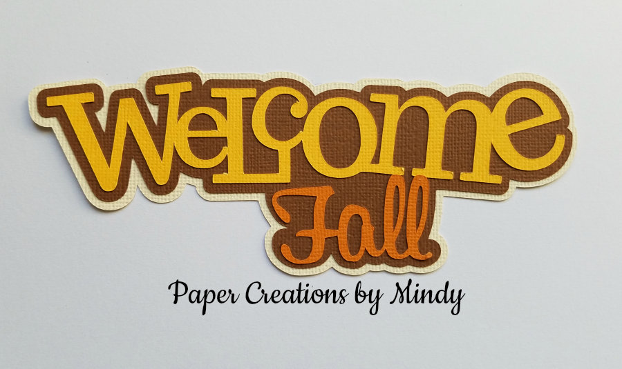 Welcome Fall Title Paper Piecing