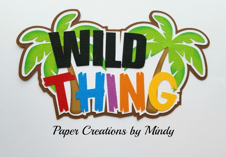 Wild Thing TBT Title Paper Piecing