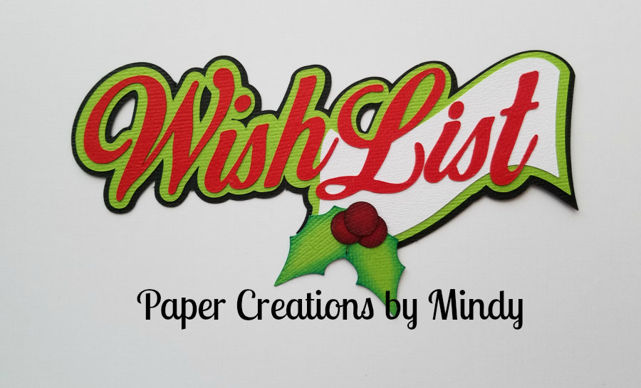 Wish List ccd Title Paper Piecing