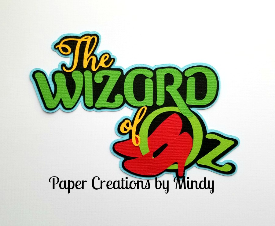 The Wizard of Oz tbd Title Paper Piecing