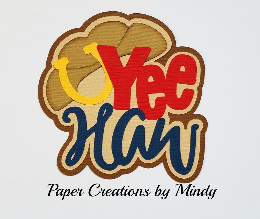 Yee Haw Title Paper Piecing